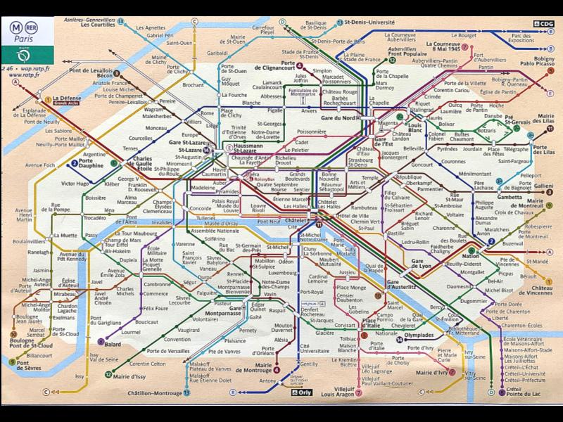 Pariser Metro Plan - abfotografiert